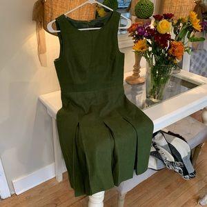 JCrew 100% linen Hunter green dress!